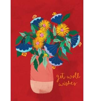 GW/Get Well Floral Vase