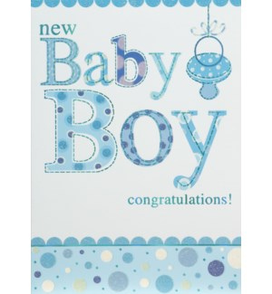 NB/New Baby Boy with Pacifier