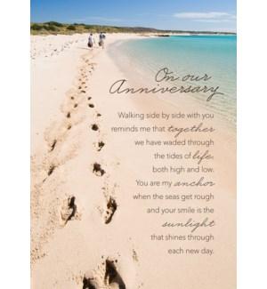 AN/Footprints On Beach