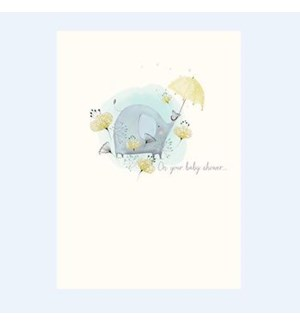 NB/Baby Elephant and Umbrella