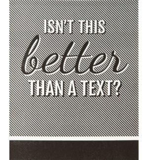 ED/Better Than A Text