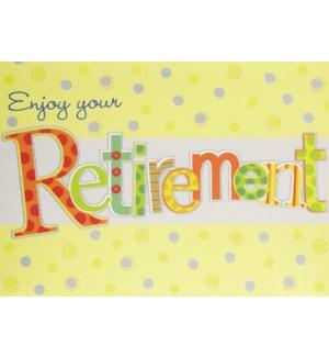 RT/Retirement Patterned Letter