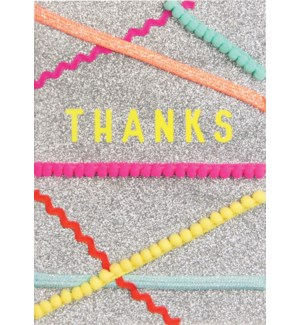 TY/Thanks With Neon Streamers