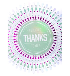 TY/Big Thanks In Circular Patt