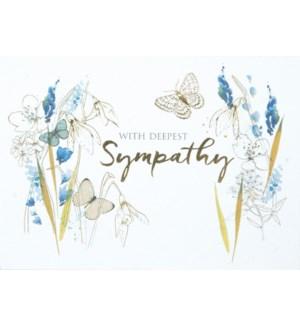 SY/Blue Flowers & Butterflies