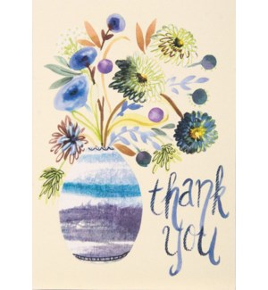 TY/Vase With Watercolor Flower