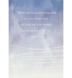SY/Helen Keller Sympathy Quote