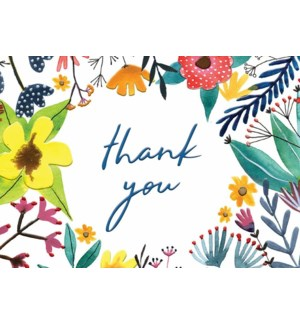 TY/Colorful Floral Thank You
