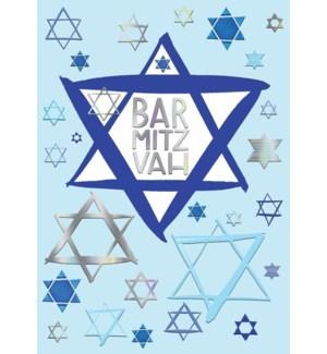 RL/Blue And Silver Bar Mitzvah