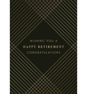 RT/Black W/Gold Lines Retire