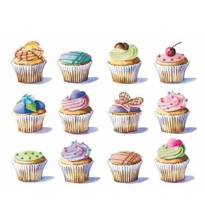 NOTES/BLANK Rows of Cupcakes