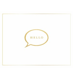 NOTES/BLANK Hello In Bubble