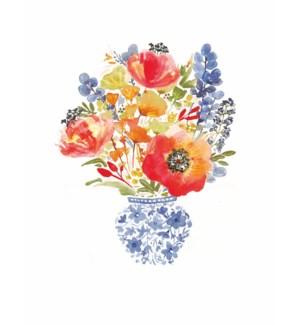 NOTES/Delft Vase And Bouquet