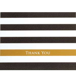 NOTES/TY Black Gold Striped