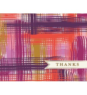 NOTES/TY Purple & Gold Plaid