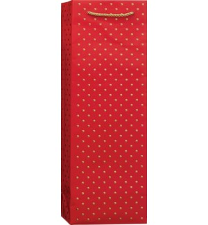 BOTTLEBAG/Gold Swiss Dots-Red