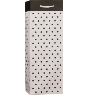 BOTTLEBAG/Blk Polka Dot White