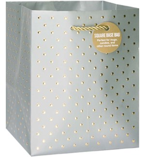 GIFTBAG/Gold Swiss Dots Silver