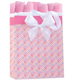 GIFTBAG/Knitted For You Pink M