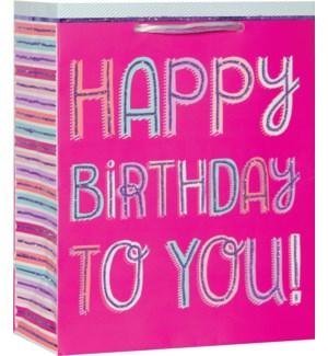 GIFTBAG/Pink Inline Birthday M