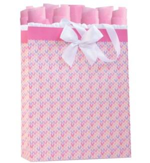GIFTBAG/Knitted Pink LG