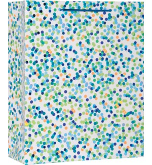 GIFTBAG/Blue Confetti Toss LG