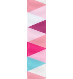 RIBBON/Pink And Aqua Triangles