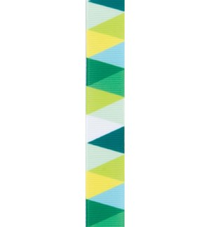 RIBBON/Green Yellow Triangle
