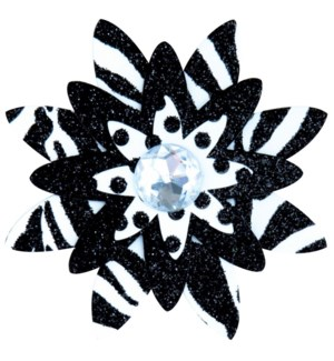 GIFTDECOR/Black & White Flower