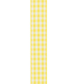 RIBBON/Yellow Gingham