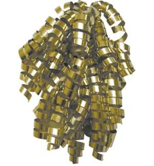 BOW/Gold Metallic Curly