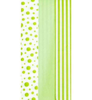 TISSUE/Dots Stripes Lime