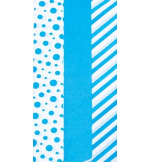 TISSUE/Dots Stripes Teal