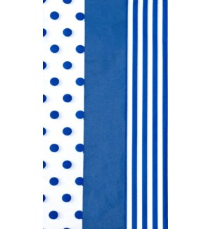 TISSUE/Dots Stripes Navy