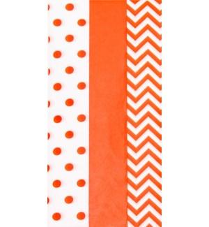 TISSUE/Dots Stripes Orange