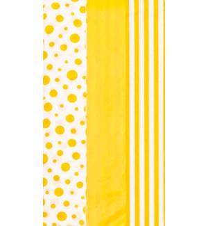 TISSUE/Dots Stripes Yellow