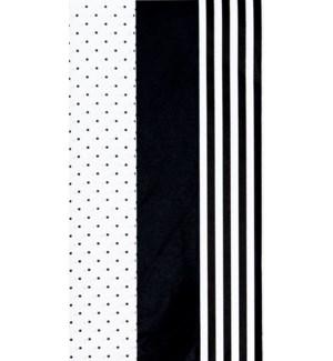 TISSUE/Dots Stripes Black