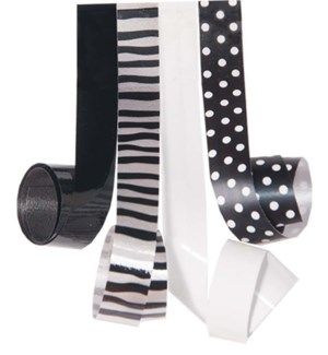 RIBBON/B & W Dots Stripes