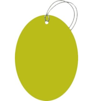 GIFTTAG/Lime Green Oval