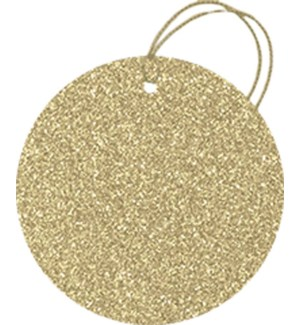 GIFTTAG/Glitter Circle-Gold