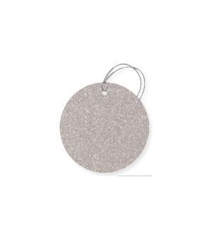 GIFTTAG/Glitter Circle-Silver