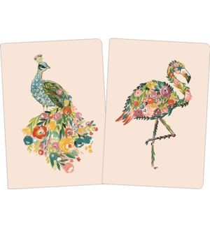 NOTEBOOK/Exotic Floral Birds