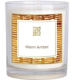 CANDLE/Warm Amber 12oz