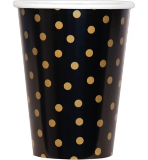 PAPERCUPS/Black And Gold Dots
