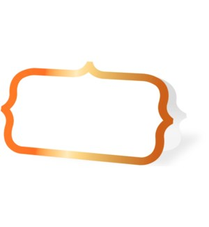 PLACECARDS/Orange Ornate