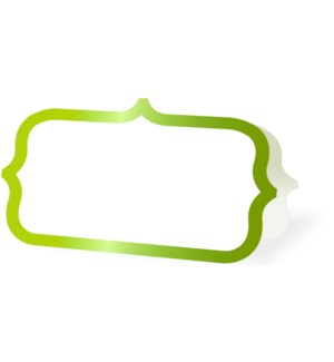 PLACECARDS/Lime Ornate Border