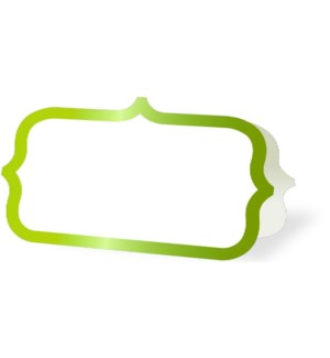 PLACECARDS/Green Ornate Border