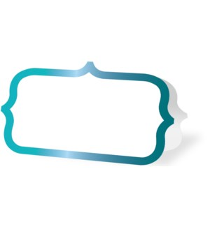 PLACECARDS/Teal Ornate Border