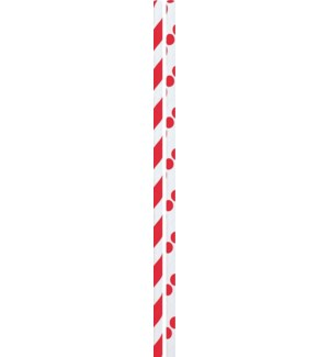 STRAWS/Red Dots & Stripes