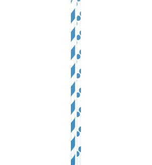 STRAWS/Blue Dots & Stripes